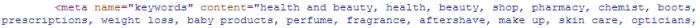 SEO - Keyword Meta Tag